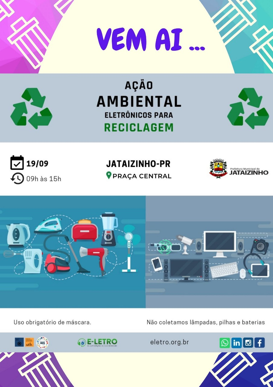 Coleta de lixo eletrônico - 19/09/2020
